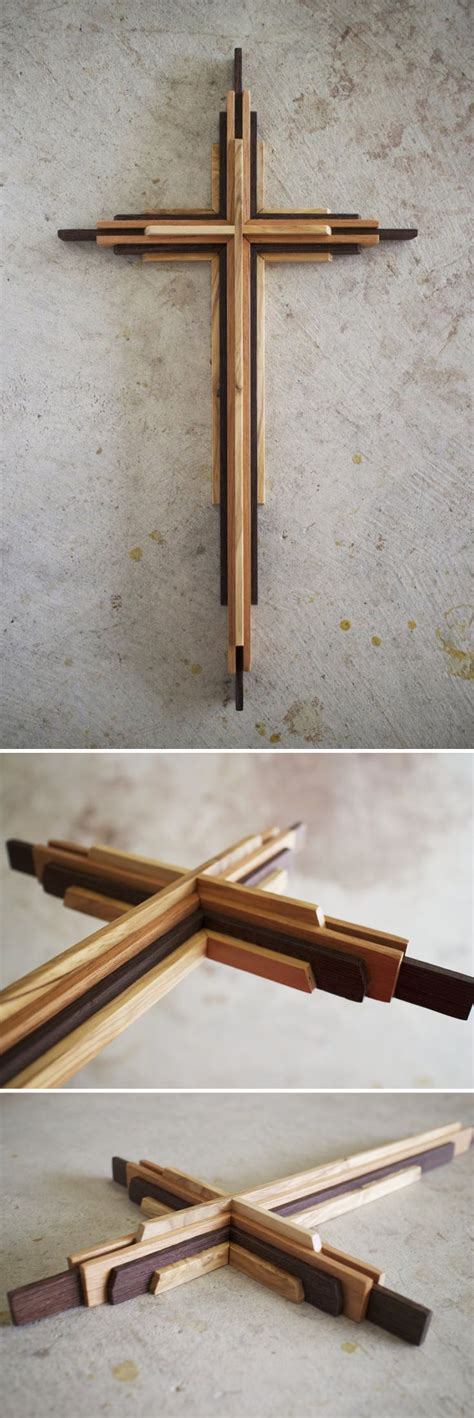 pin  handmade wooden crosses