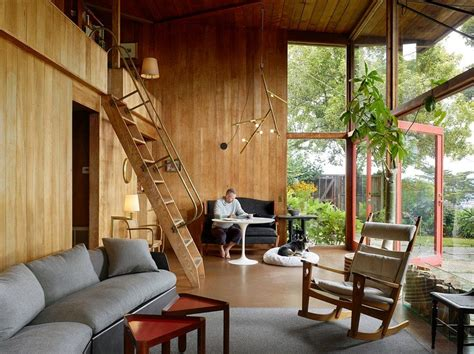 mill valley house   red cedar  glass