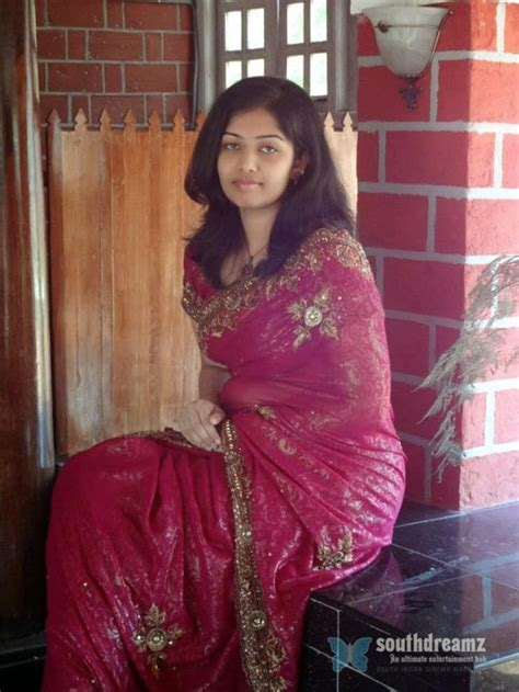 homely college girl wearing saree south indian cinema