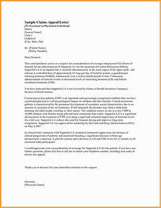 Medical Claim Appeal Letter Template Samples