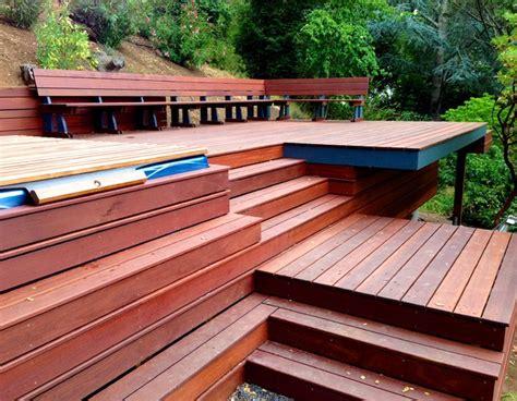 hillside tub deck contemporary deck portland
