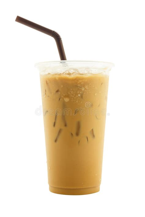 1/2 lb ground coffee (~3 1/4 cups) 8 cups boiling water 8 cups ice cold water 1 can sweetened condensed milk. Iced Coffee In Plastic Cup Isolated On White Background Stock Image - Image of cold, iced: 73350251