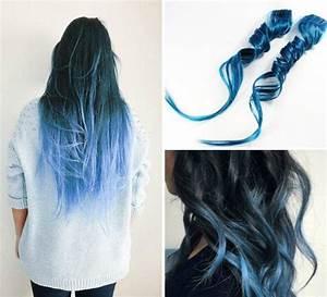 Blaue Haare Ombre : blau ombre hair haar haare pinterest ombre hair ombre and hair extensions ~ Frokenaadalensverden.com Haus und Dekorationen