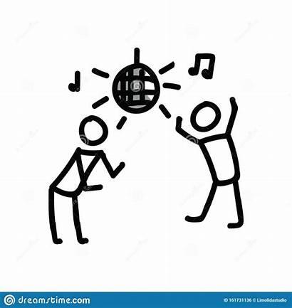 Stick Dancing Figure Stickman Clipart Hand Drawn