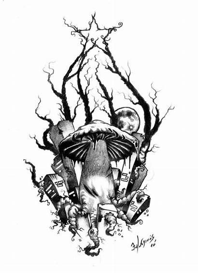 Tattoo Evil Mushroom Tattoos Designs Drawings Skull