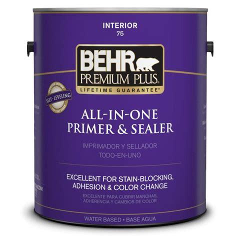 behr paint colors interior with primer behr premium plus 1 gal stain blocking interior primer and sealer 07501 the home depot