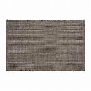 gilmore tapis tisse plat 60x90cm en coton gris fonce With tapis coton tissé