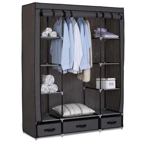 kleiderschrank aus stoff kleiderschrank garderobenschrank cingschrank faltschrank stoff regal 173 3 ebay