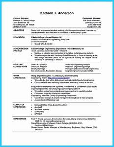 Civil Engineering Resume Example Best Current College Student Resume With No Experience