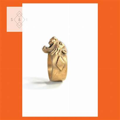 Signet Solid Rings Ring Handmade Lion Bronze