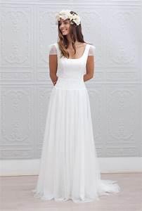 10 robes de mariee a adopter pour un look boheme chic With robe de marié pas cher avec bijoux mariee boheme