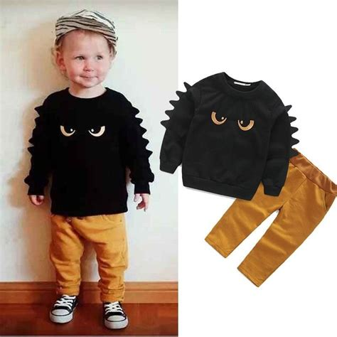 Autumn Winter Baby Boy Cute Clothing 2015 2pc Pullover Sweatshirt Top + Pant Clothes Set Baby ...