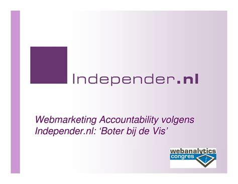 webanalyticscongresnl    presentatie independernl
