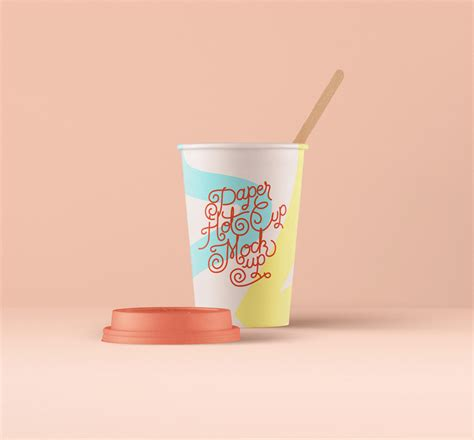 paper coffee hot cup mockup mockuptree