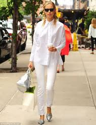 Silver Shoes with White Pants