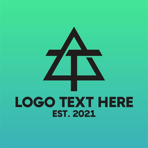 Industrial Triangle T Logo   BrandCrowd Logo Maker