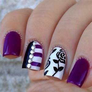 Incredible black and white nail designs