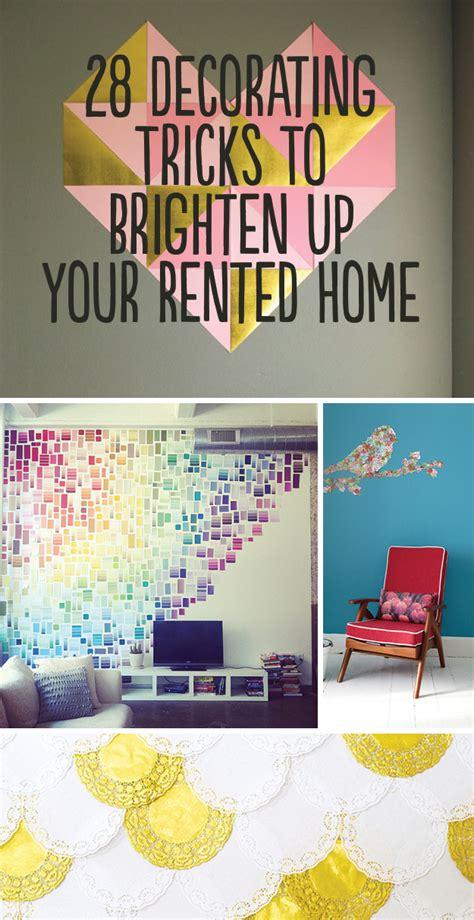 decorating tricks  brighten   rented home