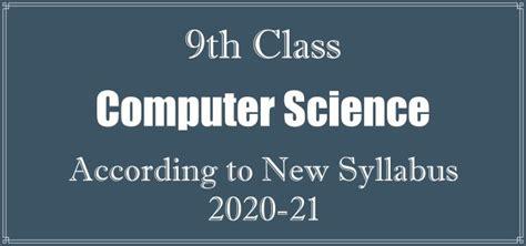 class computer science book  syllabus