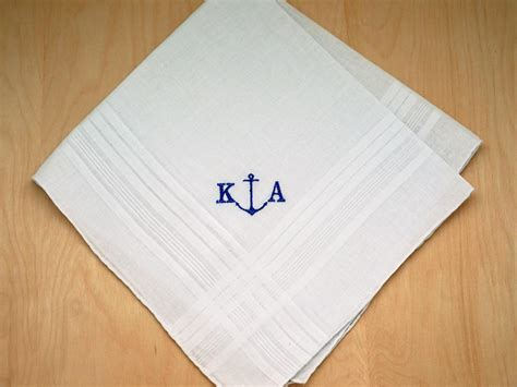 monogrammed handkerchiefs 2 letter monogram by mens monogrammed nautical anchor handkerchief font r