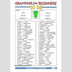 Worksheets Verb To Be  Show And Text