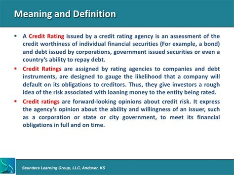 bureau definition intro to credit rating agencies