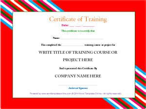 sample training certificate characterizes