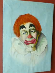 Vintage Clown Oil Paintings
