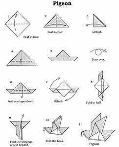 Easy Origami Diagrams Origami Dove Printable Instructions