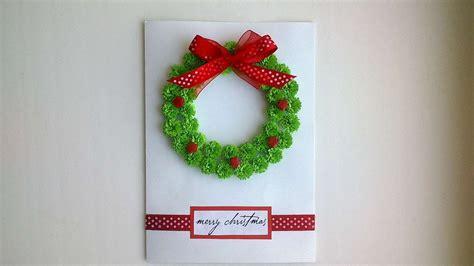 beautiful christmas card   wreath diy