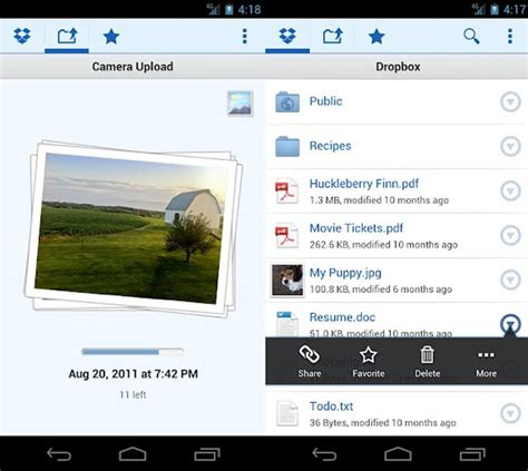 dropbox app for android dropbox for android updated automatically uploads photos
