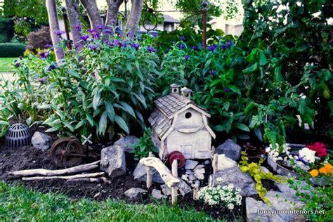 outdoor fairy garden farm style funky junk