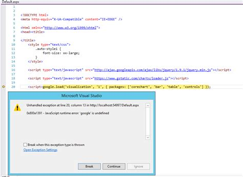Javascript Visual Studio Iis Web Site Problems