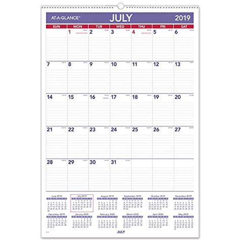 glance ay academic year wall calendar large