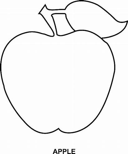 Apple Coloring Pages Pumpkin Outline Printable Drawing