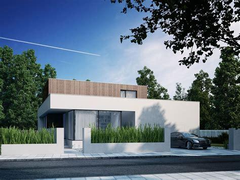 wooden cube house  wawpl white sculptural maison