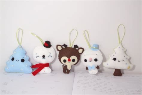 felt christmas ornaments  mohu project sewing