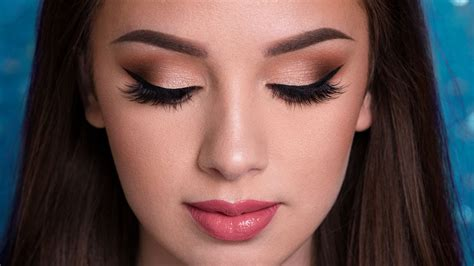 prom makeup tutorial easy glam youtube