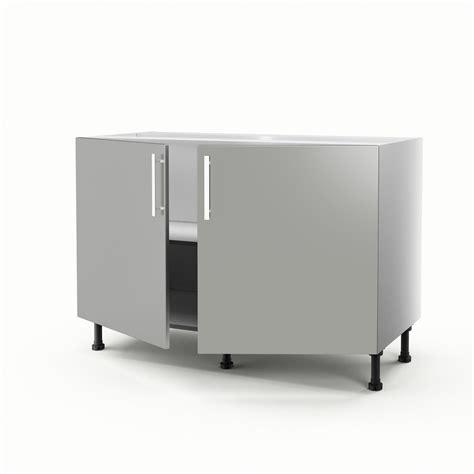 meuble cuisine sous evier 120 cm meuble de cuisine sous évier gris 2 portes délice h 70 x l