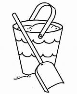 Bucket Coloring Shovel Sand Template Filler Getcolorings Printable Place Templates Getdrawings Tocolor sketch template