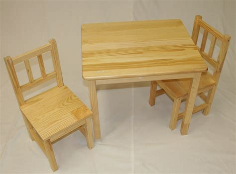 solid wood toddler table and chair set 2 decofurnish