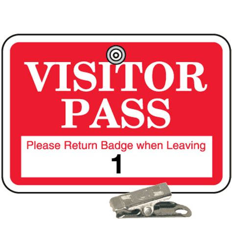 visitor pass numbered school badge sets  clips