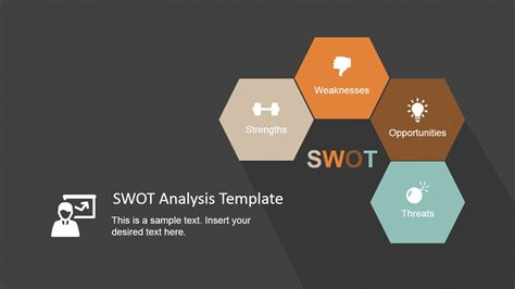minimalist swot analysis template  powerpoint slidemodel
