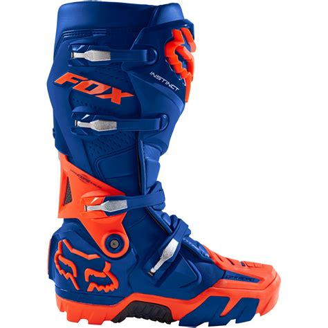 size 14 motocross boots 2018 fox racing instinct off road boots blue sixstar racing