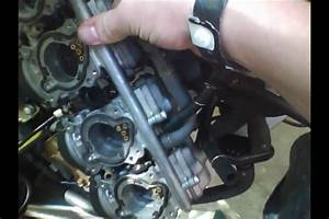 Maintenance  Carburetor Removal Part 2 1998 Honda Cbr 600
