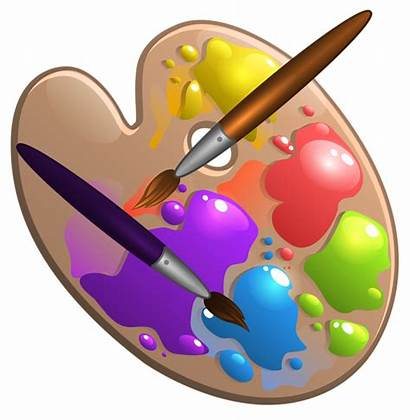 Paint Palette Brush Clipart Brushes Clip Painting