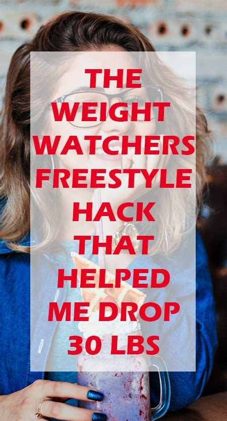 weight watchers freestyle hack  helped  lose lbs