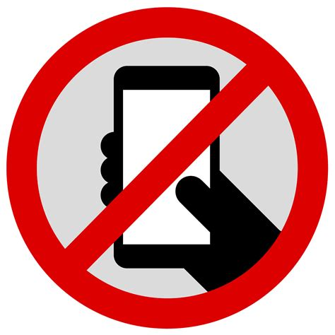 do not call cell phone no phone sign clipart best