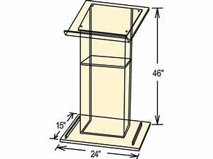 » Download Wooden Podium Blueprints PDF diy to build
