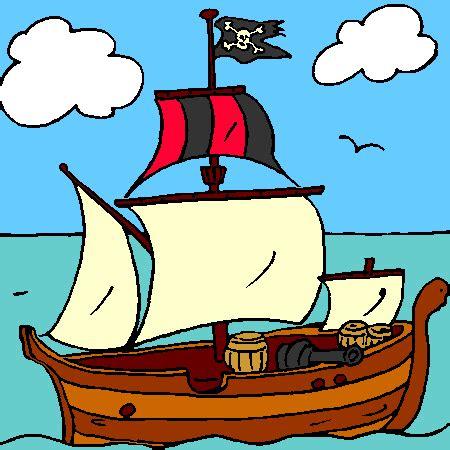 Dessin Bateau Pirate Couleur by Coloriage Bateau Pirate A Imprimer Pirate Pinterest
